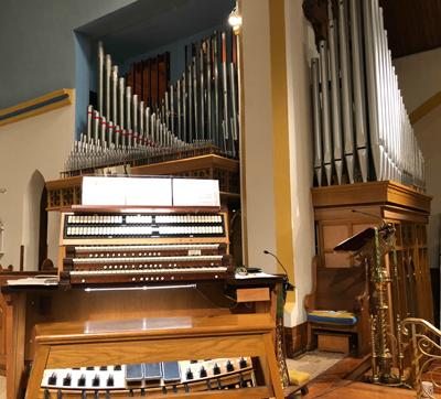 Rebuilt 1960 Casavant organ,Trinity Memorial Episcopal Church, Binghamton, New York